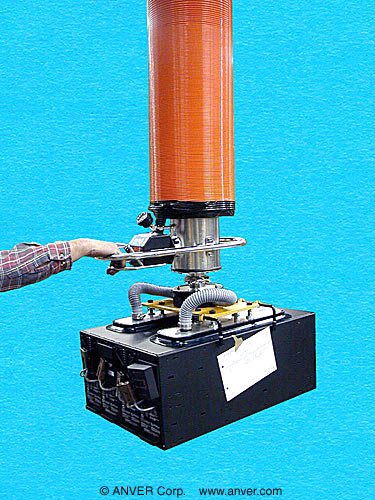 ANVER VT Series Tube Lifter with Custom Two Pad Attachment for Lifting & Handling Electrical Enclosures up to 500 lb (227 kg)