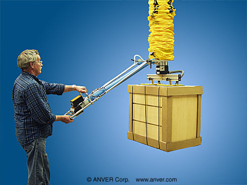 ANVER Vacuum Tube Assembly with Dual Pad Lifting Frame Assembly for Lifting & Handling Cardboard Wrapped Furniture up to 250 lbs (113 kg)