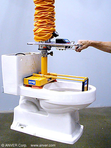 ANVER Custom Five Cup Pad Attachment with Extension and Line-Up Guides for VT Systems for Lifting & Handling Toilet Bowls
