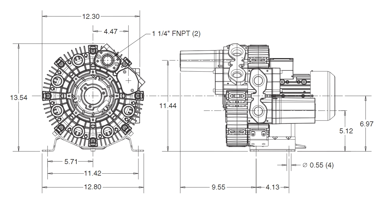 Regenerative High Vacuum Rb Series Pumps Model 050 13 Pump Diagram Or Only The Specifications
